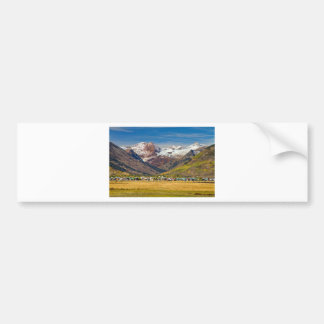 Crested Butte Colorado Autumn View Car Bumper Sticker