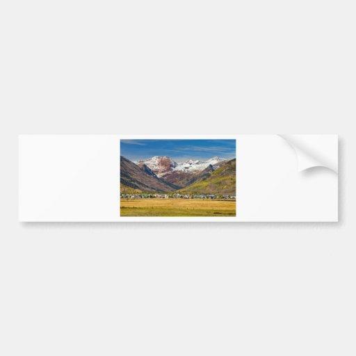 Crested Butte Colorado Autumn View Bumper Stickers