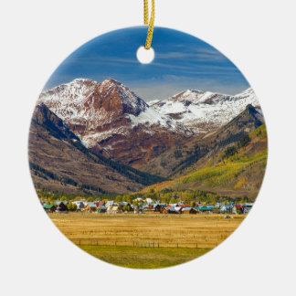 Crested Butte Colorado Autumn View Christmas Ornament