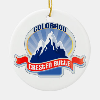 Crested Butte Colorado Christmas Ornament
