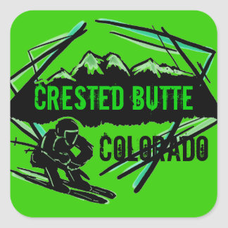 Crested Butte Colorado ski logo stickers
