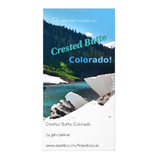 Crested Butte Colorado Vintage Style Photo Card Template