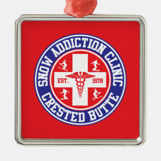 Crested Butte Snow Addiction Clinic Christmas Ornament