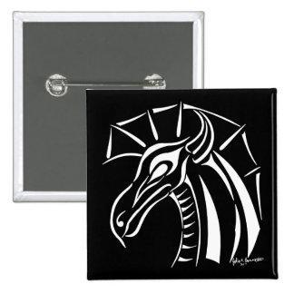 Crested Dragon Square Button 2