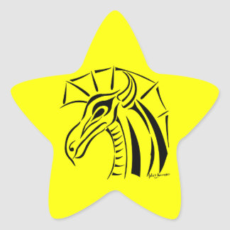 Crested Dragon Sticker Star