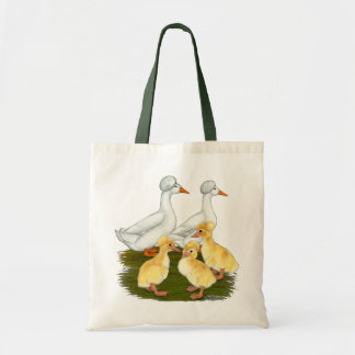 Crested Duck Family Canvas Bags