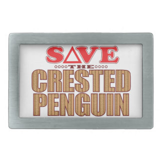 Crested Penguin Save Belt Buckle