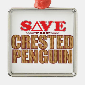 Crested Penguin Save Christmas Ornament