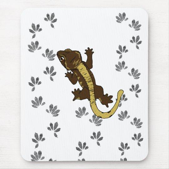 crestie footprints (mousepad) mouse mat