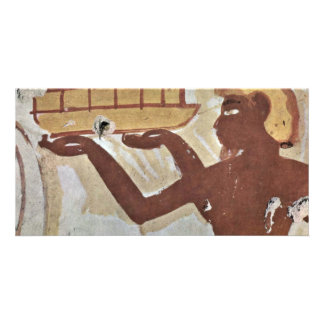Cretan Tribute Charms By Maler Der Grabkammer Des Personalized Photo Card