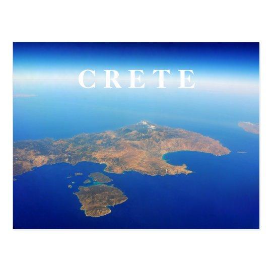Crete Aerial View Postcard