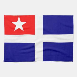 crete region flag greece symbol tea towel