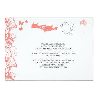 Crete Wedding Travel Information 13 Cm X 18 Cm Invitation Card