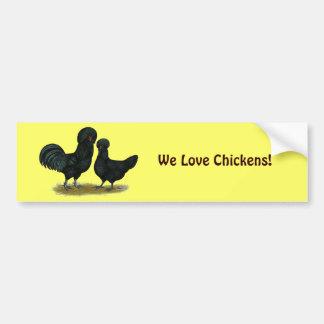 Crevecoeur Chickens Car Bumper Sticker