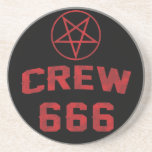 Crew 666 Pentagram Beverage Coaster