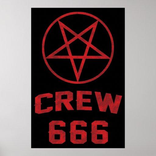 Crew 666 Pentagram Poster