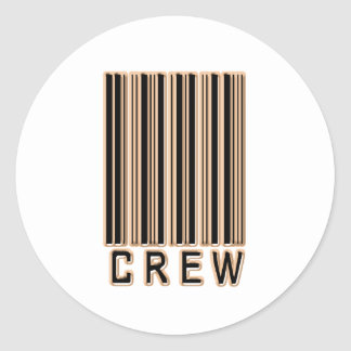 Crew Barcode Classic Round Sticker