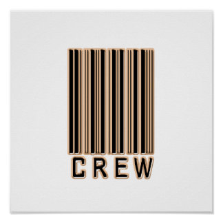 Crew Barcode Posters