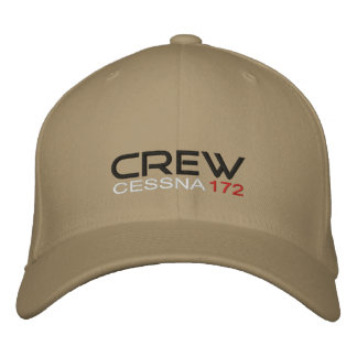 crew Cessna 172 Embroidered Hats