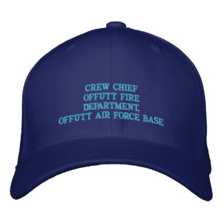 CREW CHIEF OFFUTT AIR FORCE BASE EMBROIDERED BASEBALL CAPS