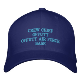 CREW CHIEF OFFUTT AIR FORCE BASE EMBROIDERED CAP