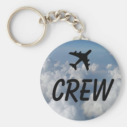 Crew Clouds Basic Round Button Key Ring
