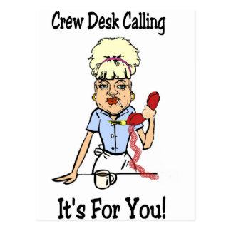 Crew Dest Postcard