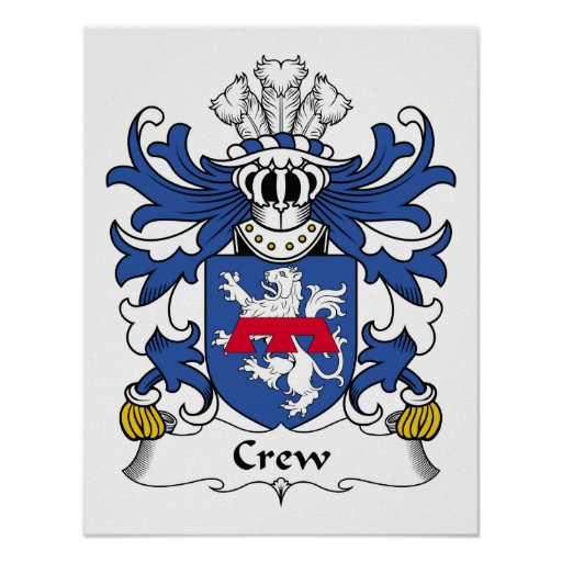Crew Family Crest Print
