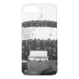 Crew of the monitor Saugus_War Image iPhone 7 Case