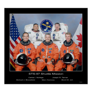 Crew of the NASA STS-97 Shuttle Poster