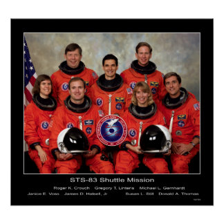 Crew of the STS-83 Shuttle Mission... Poster