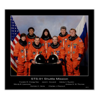 Crew of the STS-91 Shuttle Mission... Poster