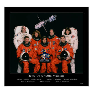 Crew of the STS-96 Shuttle Mission Poster