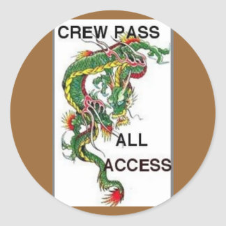 crew pass round sticker
