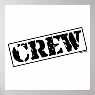 Crew Stamp Poster