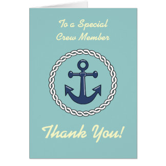 Crew Thank You - Anchor Card