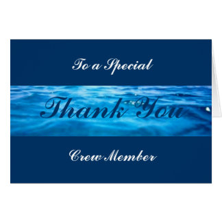Crew Thank You Cards -customizable
