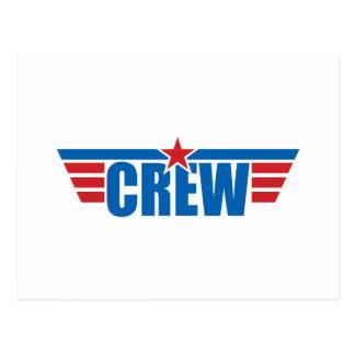 Crew Wings Badge - Aviation Postcard