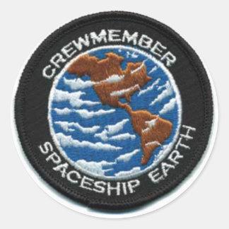 Crewmember Spaceship Earth Round Sticker