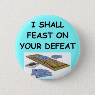cribbage 6 cm round badge
