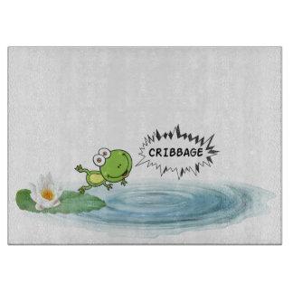 Cribbage Frog Cutting Board