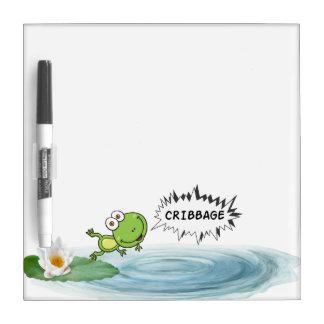 Cribbage Frog Dry Erase Board