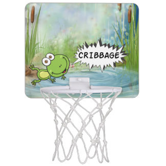 Cribbage Frog Mini Basketball Hoop