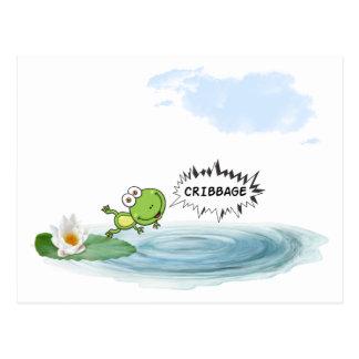 Cribbage Frog Postcard