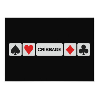 Cribbage invitation - customize!