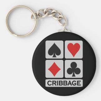 Cribbage keychain