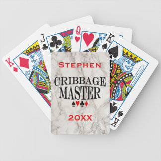 Cribbage Master Personalized Bicycle Playing Cards