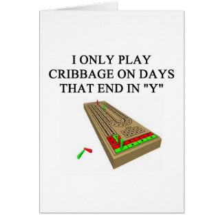 cribbage players card