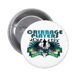 Cribbage Players Gone Wild Pinback Button