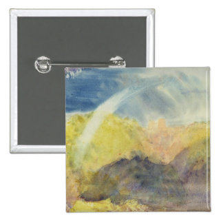 Crichton Castle (Mountainous Landscape with a Rain 15 Cm Square Badge